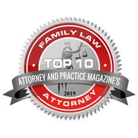 2019 Attorney & Practice Magazine Family Law badge